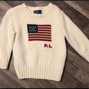 Polo Ralph Lauren Flag Cotton Crewneck Sweater
